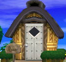 Exterior of Sterling's house in Animal Crossing: New Leaf