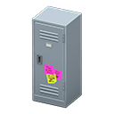 Upright Locker (Silver - Notes) NH Icon.png