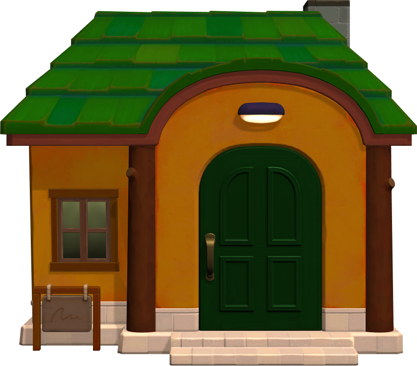 Exterior of Alfonso's house in Animal Crossing: New Horizons