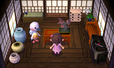 Interior of Blanche's house in Animal Crossing: New Leaf