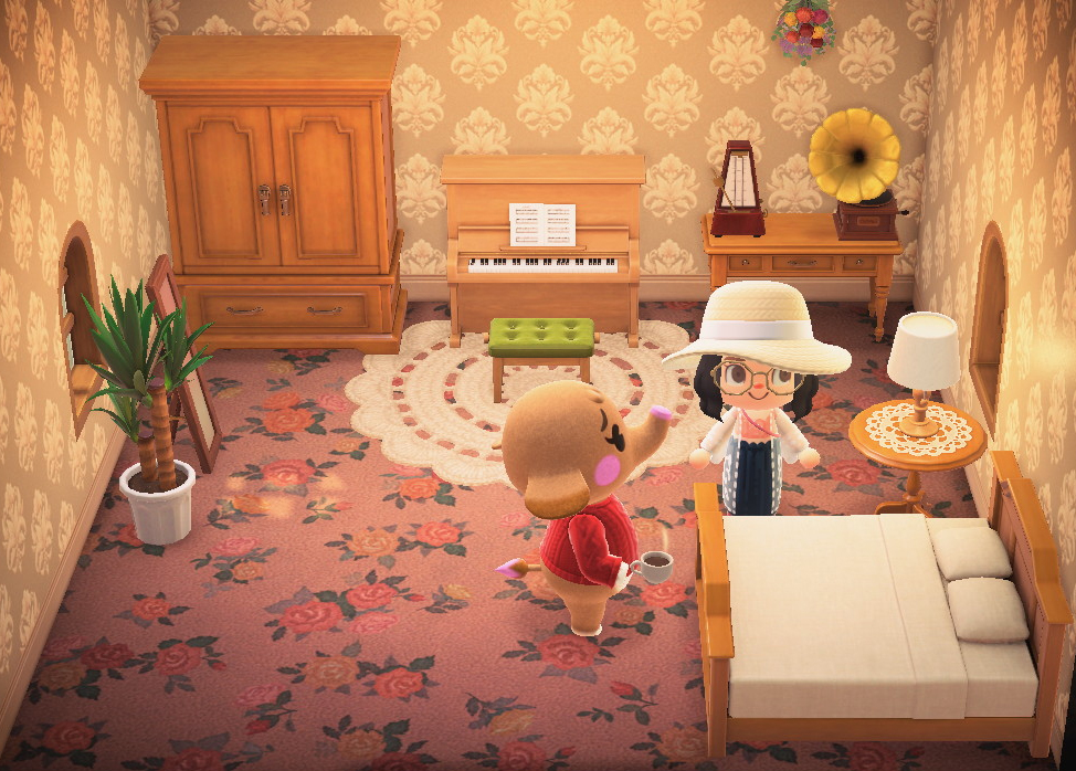 Interior of Ellie's house in Animal Crossing: New Horizons