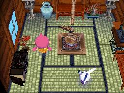 Interior of Dora's house in Animal Crossing: Wild World