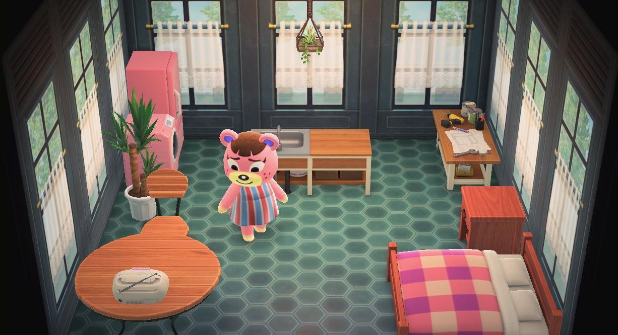 Interior of Ursala's house in Animal Crossing: New Horizons