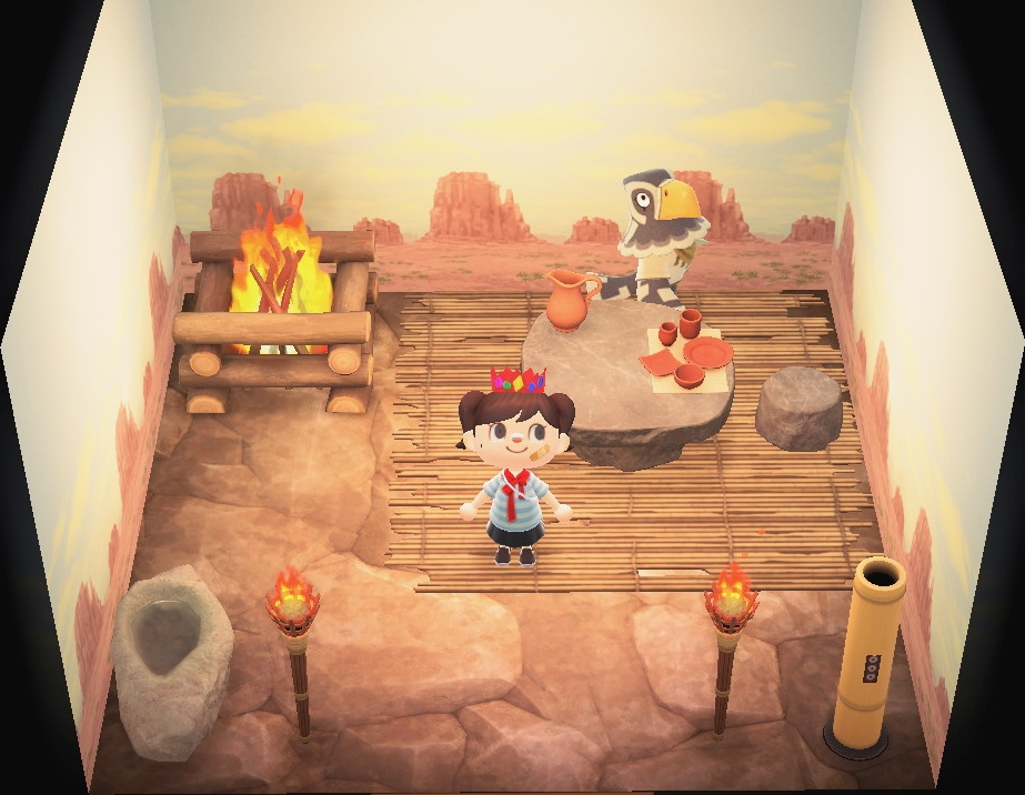 Interior of Avery's house in Animal Crossing: New Horizons