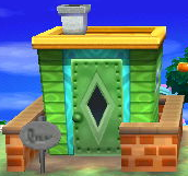Exterior of Quillson's house in Animal Crossing: New Leaf