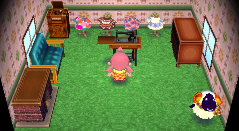 Interior of Vesta's house in Animal Crossing: City Folk