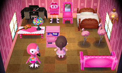 Interior of Flora's house in Animal Crossing: New Leaf