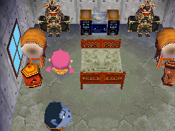 Interior of Peewee's house in Animal Crossing: Wild World