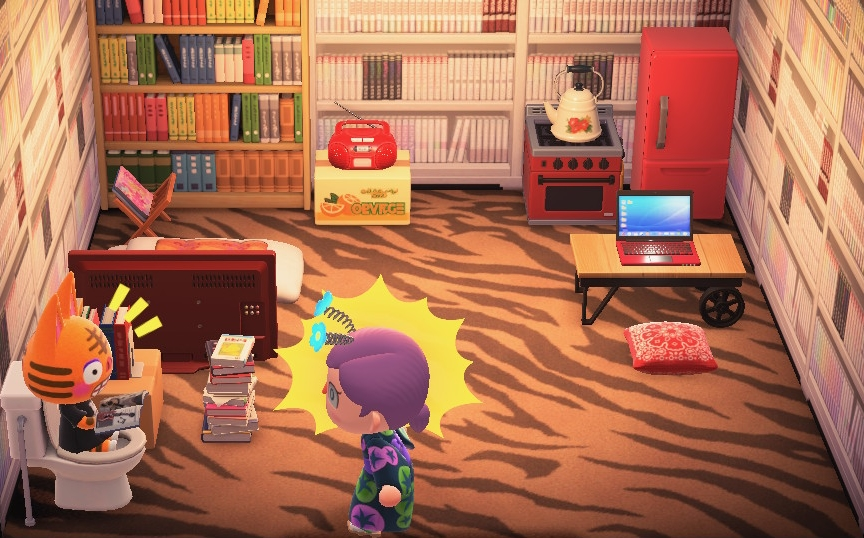 Interior of Tabby's house in Animal Crossing: New Horizons