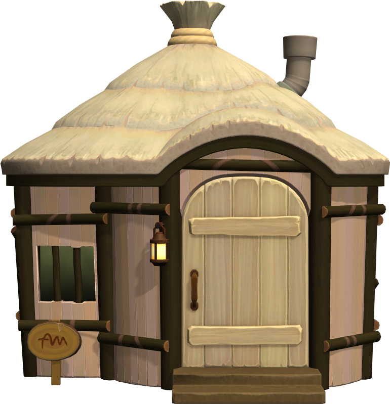 Exterior of Shep's house in Animal Crossing: New Horizons