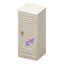 Upright Locker (White - Cute) NH Icon.png