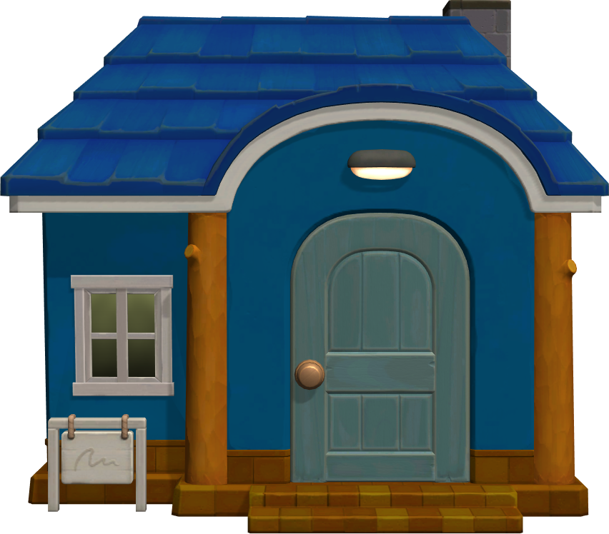 Exterior of Stu's house in Animal Crossing: New Horizons