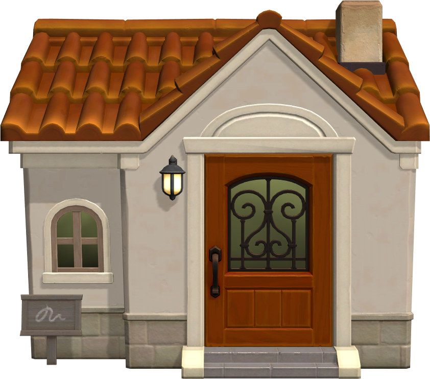 Exterior of Purrl's house in Animal Crossing: New Horizons