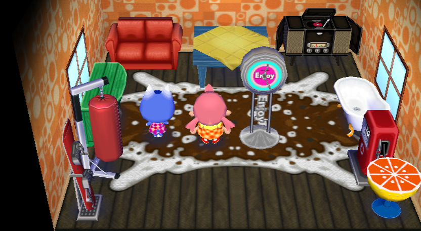 Interior of Rosie's house in Animal Crossing: City Folk