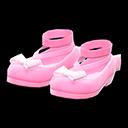 Shiny Bow Platform Shoes