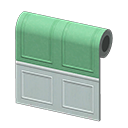 Green Molded-Panel Wall