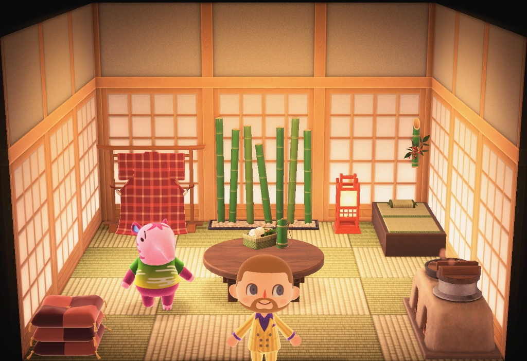 Interior of Snooty (villager)'s house in Animal Crossing: New Horizons