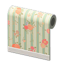 Green Flower-Print Wall