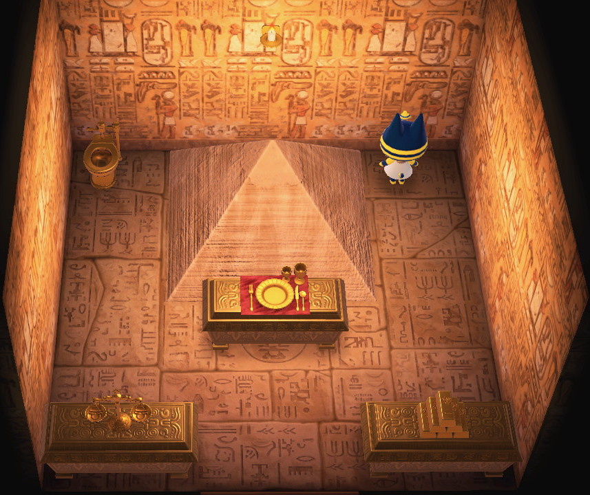 Interior of Ankha's house in Animal Crossing: New Horizons