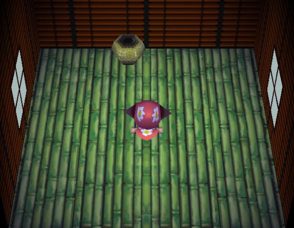 Interior of Dobie's house in Animal Crossing