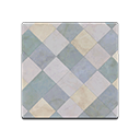 Gray Argyle-Tile Flooring