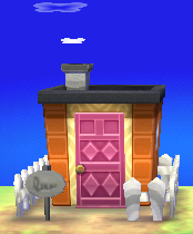 Exterior of Agnes's house in Animal Crossing: New Leaf