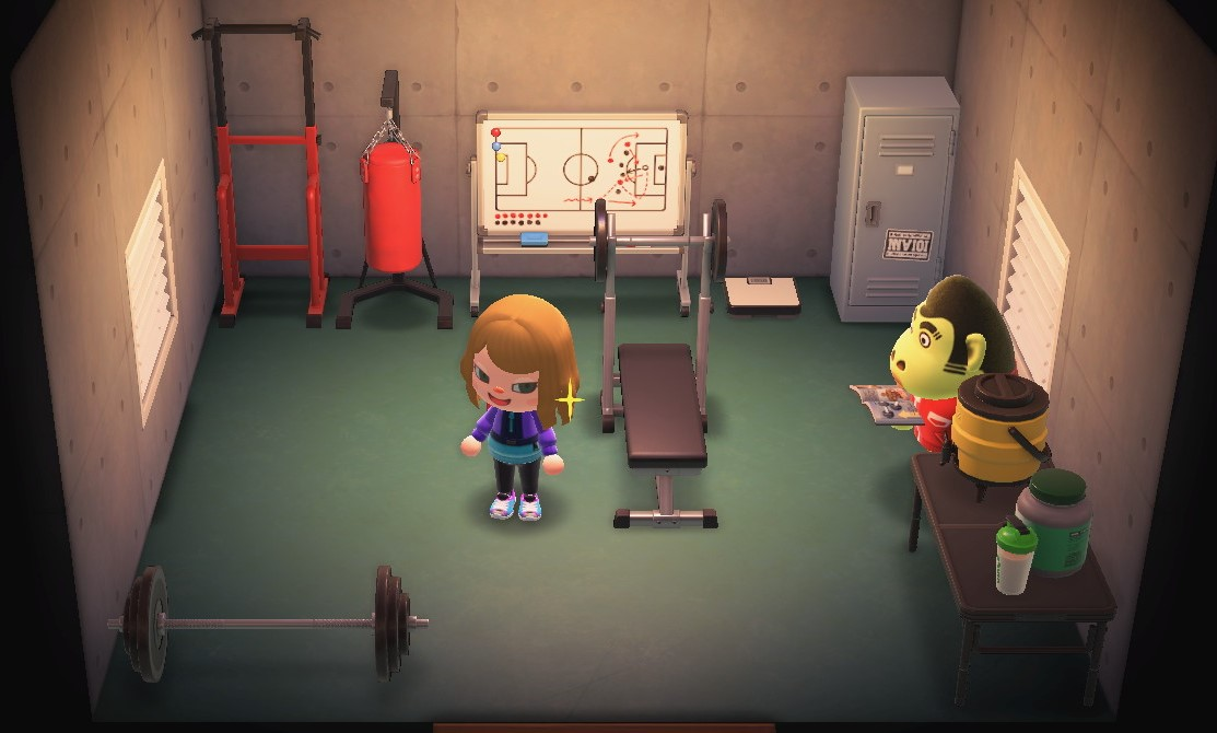 Interior of Al's house in Animal Crossing: New Horizons