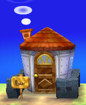 Exterior of Avery's house in Animal Crossing: New Leaf