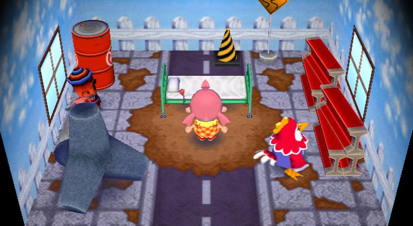 Interior of Benedict's house in Animal Crossing: City Folk
