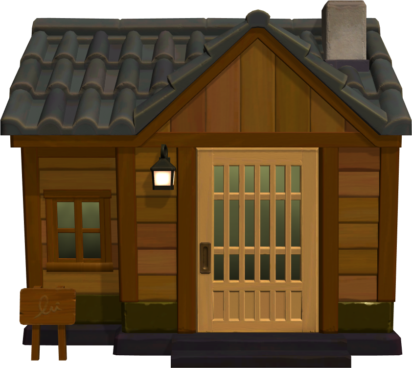 Exterior of Tybalt's house in Animal Crossing: New Horizons