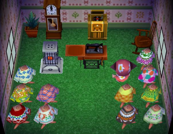 Interior of Vesta's house in Animal Crossing