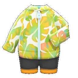 Leaf-Print Wet Suit