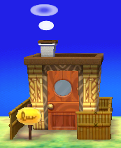 Exterior of Sparro's house in Animal Crossing: New Leaf