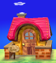 Exterior of Bangle's house in Animal Crossing: New Leaf
