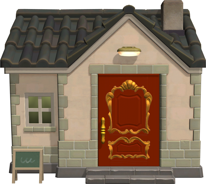 Exterior of Elvis's house in Animal Crossing: New Horizons
