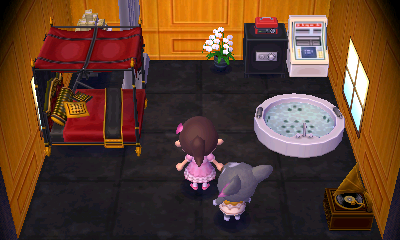 Interior of Gonzo's house in Animal Crossing: New Leaf