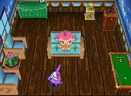 Interior of Rod's house in Animal Crossing: Wild World