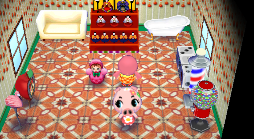 Interior of Gala's house in Animal Crossing: City Folk