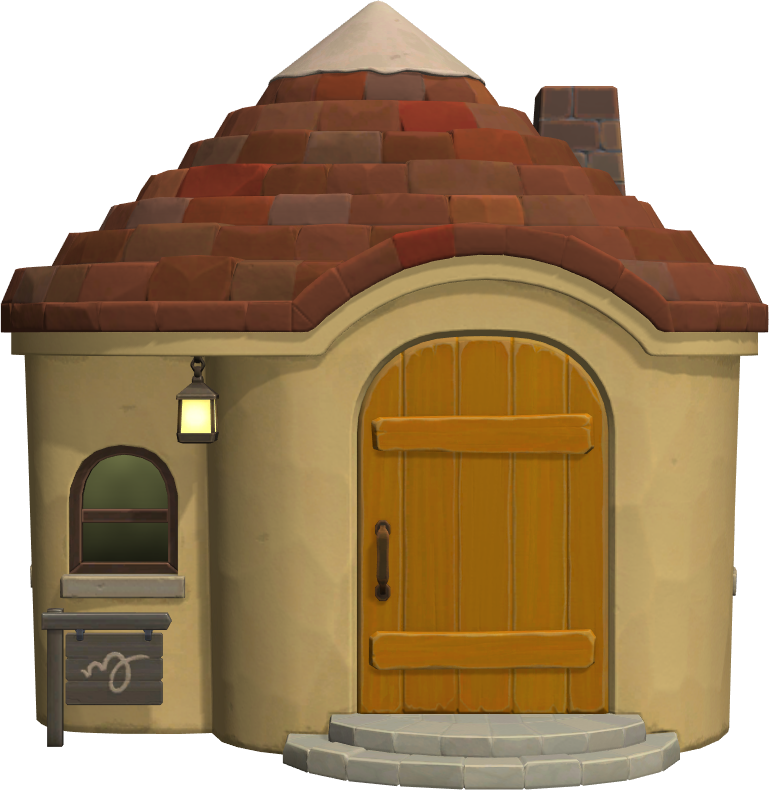 Exterior of Fauna's house in Animal Crossing: New Horizons