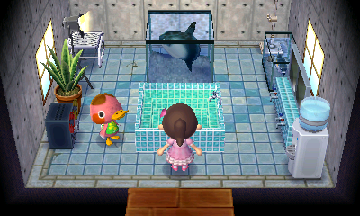 Interior of Freckles's house in Animal Crossing: New Leaf