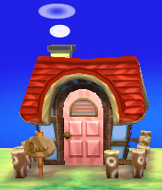 Exterior of Hazel's house in Animal Crossing: New Leaf