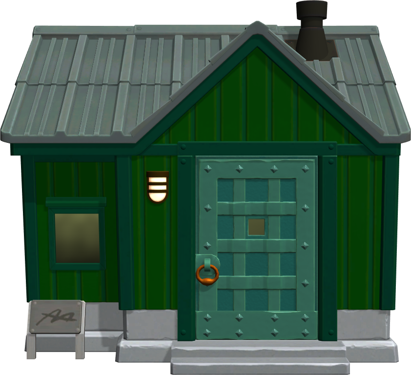 Exterior of Sprocket's house in Animal Crossing: New Horizons
