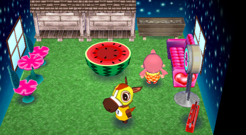 Interior of Victoria's house in Animal Crossing: City Folk