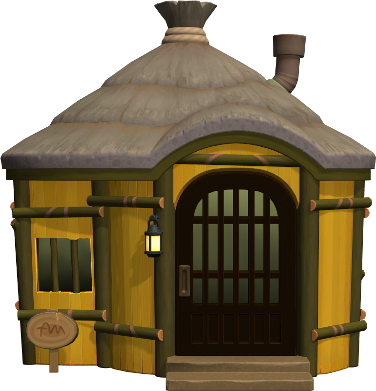 Exterior of Gaston's house in Animal Crossing: New Horizons