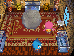 Interior of Kody's house in Animal Crossing: Wild World