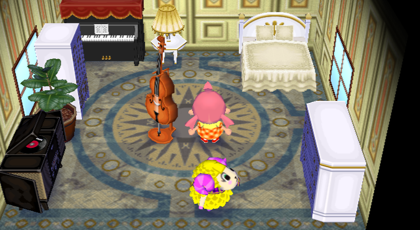 Interior of Willow's house in Animal Crossing: City Folk