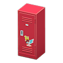 Upright Locker (Red - Pop) NH Icon.png