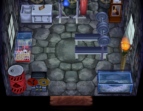 Interior of Gaston's house in Animal Crossing