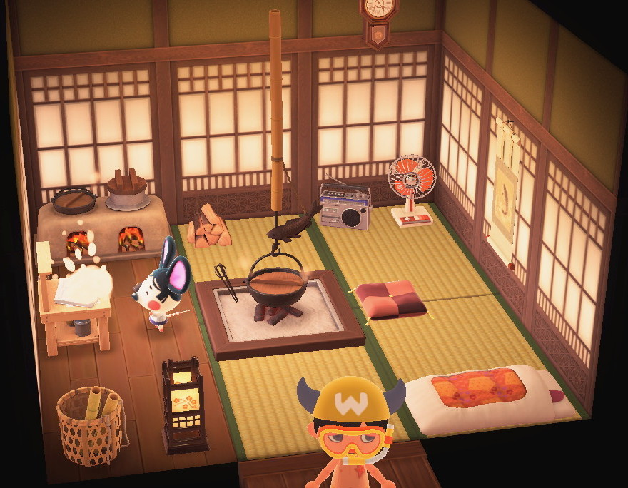 Interior of Greta's house in Animal Crossing: New Horizons
