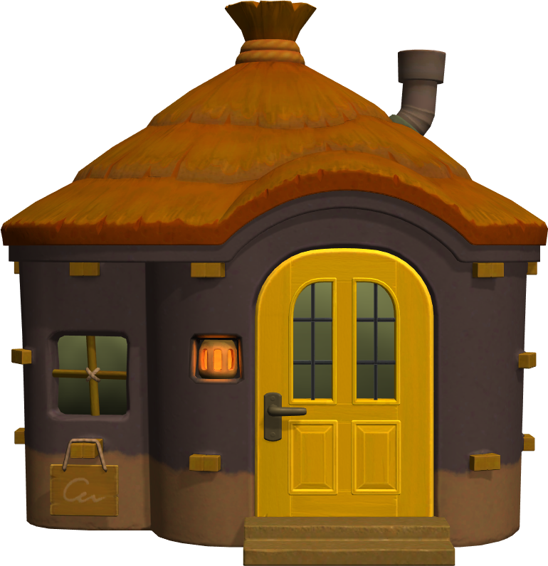 Exterior of Tabby's house in Animal Crossing: New Horizons